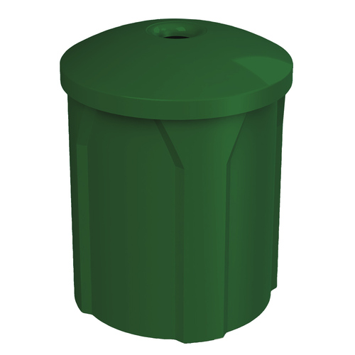 42 Gallon Trash Can with Mushroom Lid