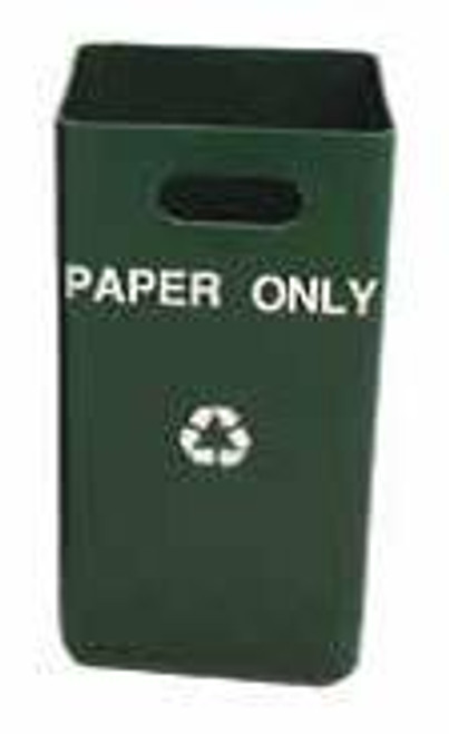 9 Gallon Indoor Green Recycling Wastebasket TF1650 (15 Messages)