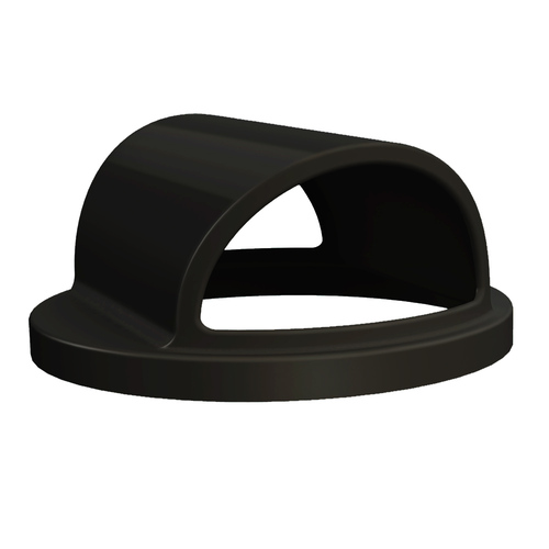 Plastic Trash Can Lid for 55 Gallon Drum Receptacles BLACK
