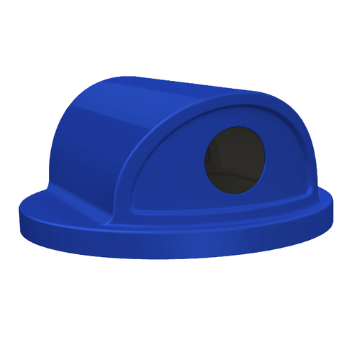 2 Way Recycle Drum Lid Dome Top Lids S7130-01 for 55 Gallon Drums BLUE