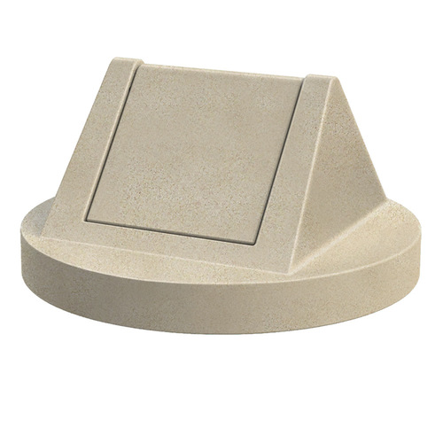Swing Top Drum Lid Dome Top Trash Can Lids for 55 Gallon Drums BEIGE GRANITE