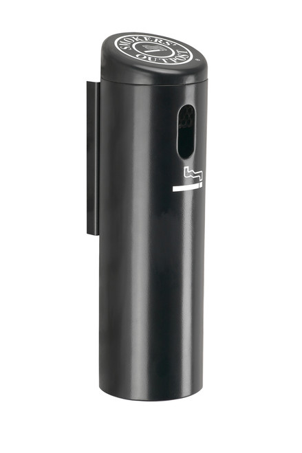 Lockable Smokers Outpost Wall Mount Cigarette Receptacle Outdoor Ashtray Black