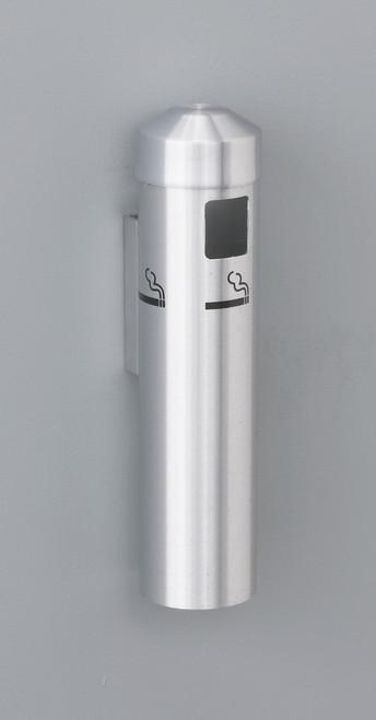 2401 Wall Mount Metal Value Smokers Cigarette Receptacle Ashtray Satin Aluminum