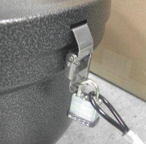Cable and Padlock Kit for Smokers Oasis Outdoor Ashtrays Locked
