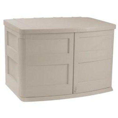 Horizontal Trash Can Storage Shed Garbage Can Hide Away Closed