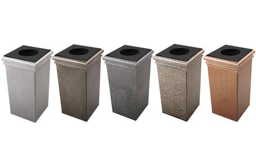 30 Gallon StoneTec Concrete Fiberglass Decorative Trash Can 722117 (5 Colors)