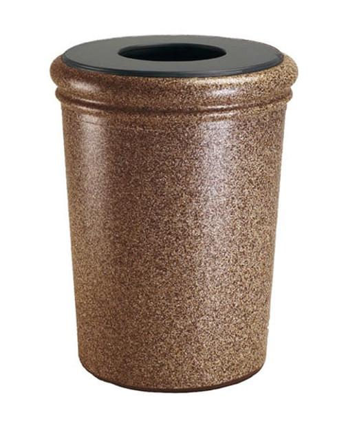 50 Gallon StoneTec Concrete Fiberglass Decorative Trash Can Sedona