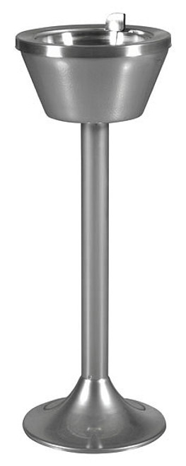 Floor Standing Smokers Flip Top Pedestal Chrome Ashtray 501 CPDR-FLIP