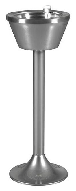 Smokers Flip Top Pedestal Chrome Standing Ashtray 501 CPDR-FLIP