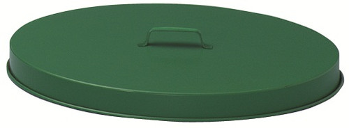 55 Gallon Metal Flat Top Galvanized Drum Lid Painted Green FT255P (Case of 6)