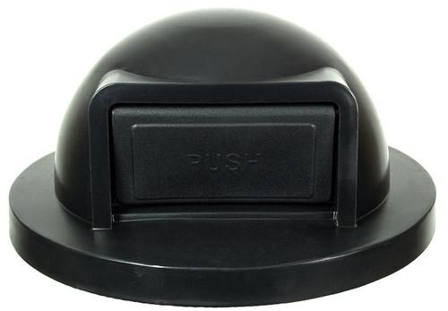 24.75 Inch Black Push Door Plastic Lid for Steel Drum Trash Cans SC55DT