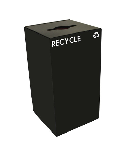 28 Gallon Metal Geocube 28GC0 Recycling Bin Receptacle for Recyclables