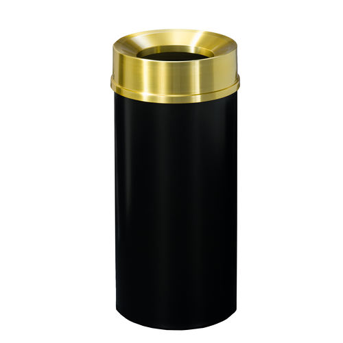 Mount Everest F1232 Funnel Top Trash Can Satin Brass Cover