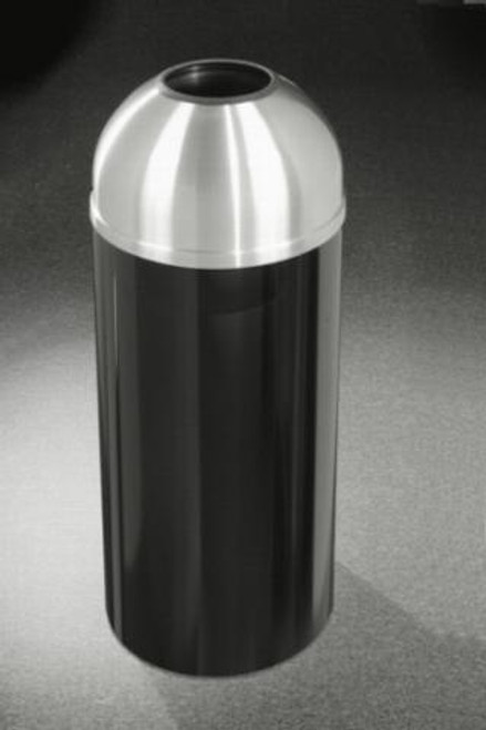 Mount Everest T1230 Open Dome Top Trash Can Satin Aluminum Cover