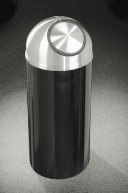 Mount Everest S1230 Dome Top Trash Can Satin Aluminum Cover