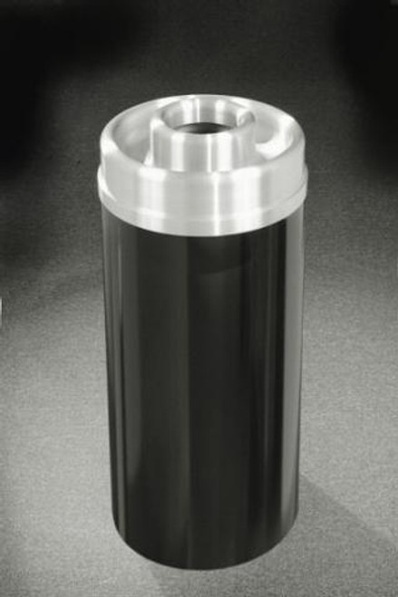 Mount Everest  D1541 Donut Top Ash Trash Receptacle Satin Aluminum Cover