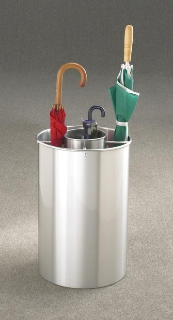 Glaro 259SA Satin Aluminum Combination Umbrella Stand