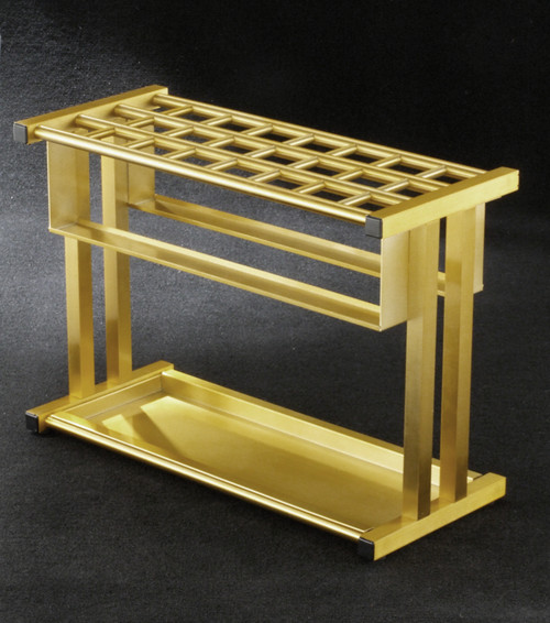 Glaro 1890 Combination Umbrella Stand Satin Brass