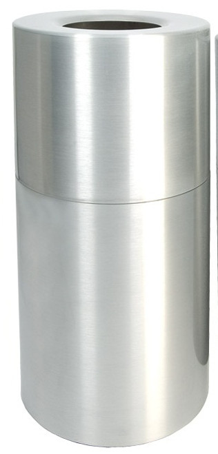 Aluminum Trash Container Open Top Clear Coat