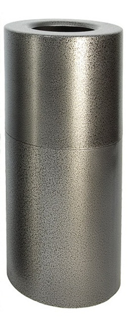 Aluminum Trash Container Open Top Silver Vein