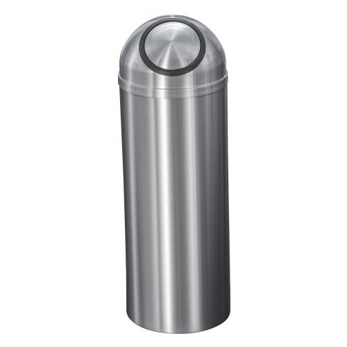 New Yorker 8 Gallon S1230SA Dome Top Trash Receptacle w/Plastic Liner