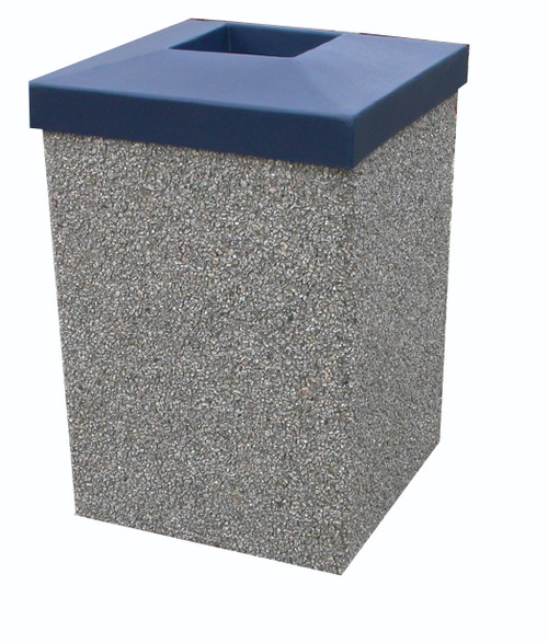 30 Gallon Open Top Outdoor Concrete Garbage Can 30G30LP (6 Finishes)