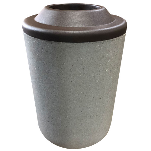 31 Gallon Concrete Pitch In Top Outdoor Waste Container TF1083 Acid Wash