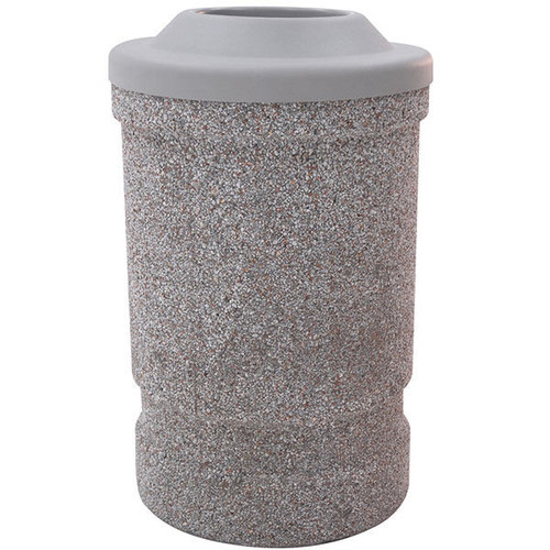 53 Gallon Concrete Pitch In Top Outdoor Waste Container TF1120 Exposed