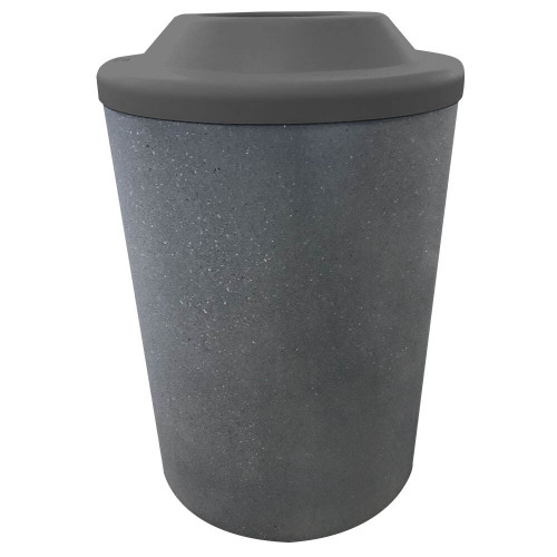 53 Gallon Concrete Pitch In Top Outdoor Waste Container TF1140 Acid Wash