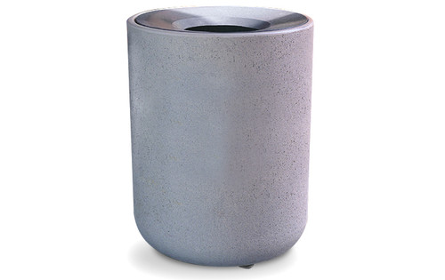 31 Gallon Concrete Funnel Top Outdoor Waste Container TF1085 Weatherstone