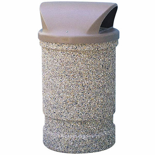 53 Gallon Concrete 2 Way Dome Top Outdoor Waste Container TF1130