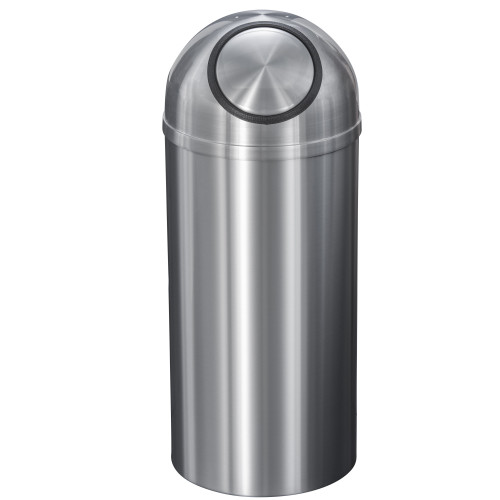 New Yorker 12 Gallon S1530SA Dome Top Trash Receptacle w/Plastic Liner