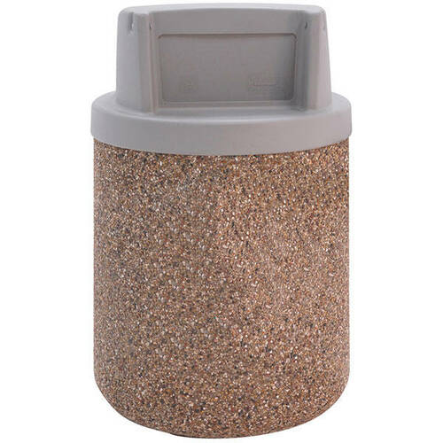 42 Gallon Concrete Push Door Top Outdoor Waste Container TF1170 Exposed Aggregate