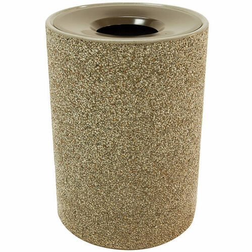 53 Gallon Concrete Funnel Top Outdoor Waste Container TF1151 Exposed Aggregate