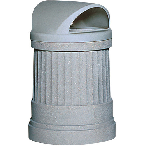31 Gallon Concrete 2 Way Dome Top Outdoor Waste Container TF1191