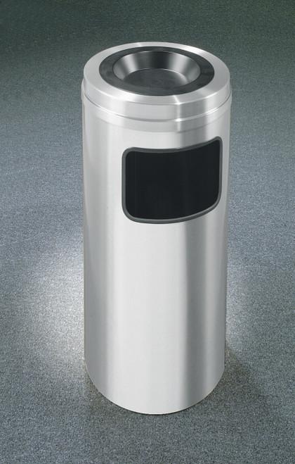 New Yorker 10 Gallon C1531SA Sand Top Ash Trash Can w/Plastic Liner