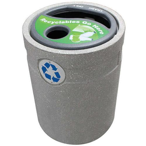 48 Gallon Concrete Outdoor Recycling Container WS1196