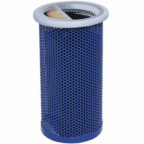 10 Gallon Metal Armor Ash Trash Lid Outdoor Waste Container MF3011 with Gray Rim