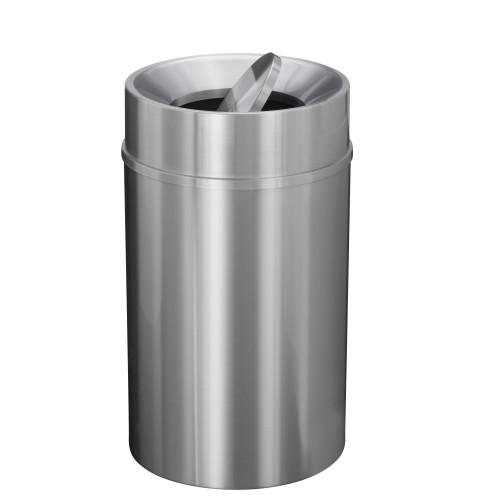 New Yorker 33 Gallon TA2035SA Tip Action Trash Receptacle w/Plastic Liner