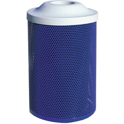 41 Gallon Metal Armor Pitch In Lid Outdoor Waste Container MF3021