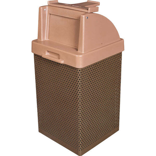 38 Gallon Restaurant Trash Can with Tray Holder MF3055