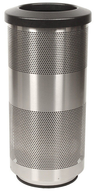 Stadium Series 20 Gallon Stainless Steel Trash Container