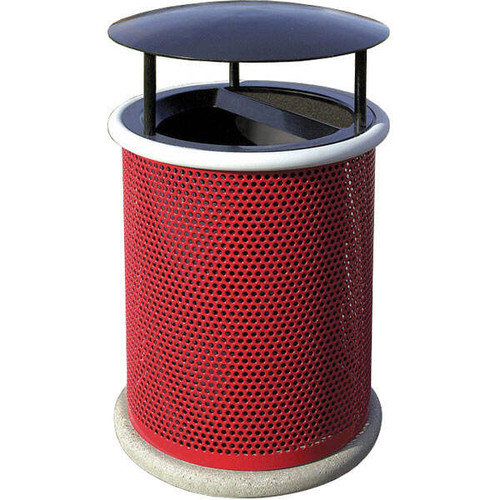 30 Gallon Ash Trash Lid Covered Outdoor Waste Container MF3006