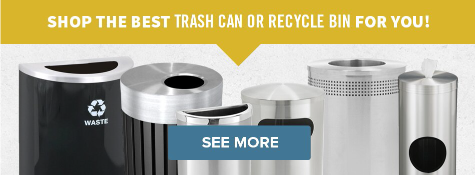 Buy Commercial Trash Cans, Recycle Bins, and Outdoor Ashtrays