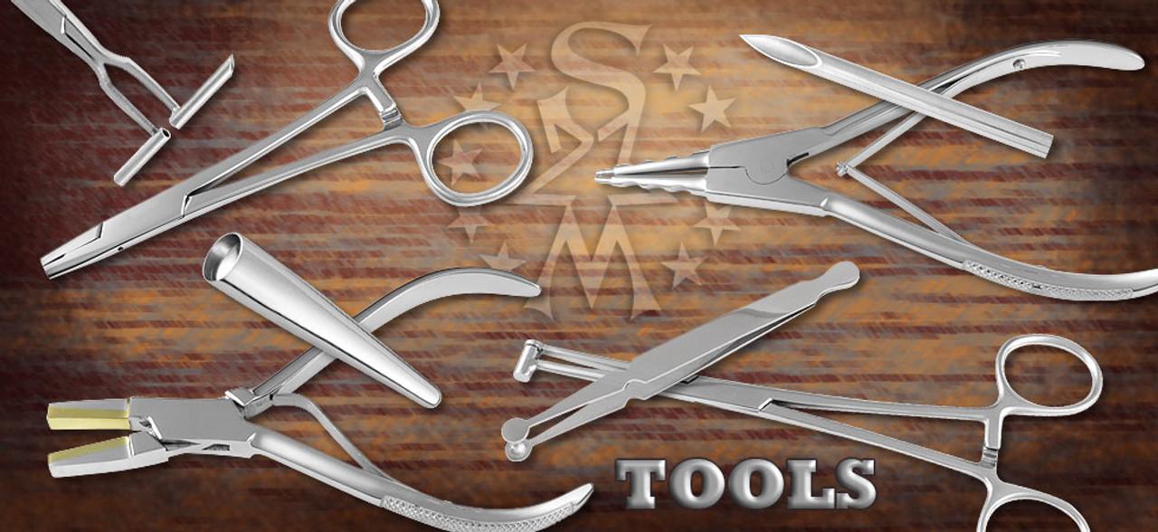Metal Piercing Tools, Needles, Tapers, Forceps, Pliers