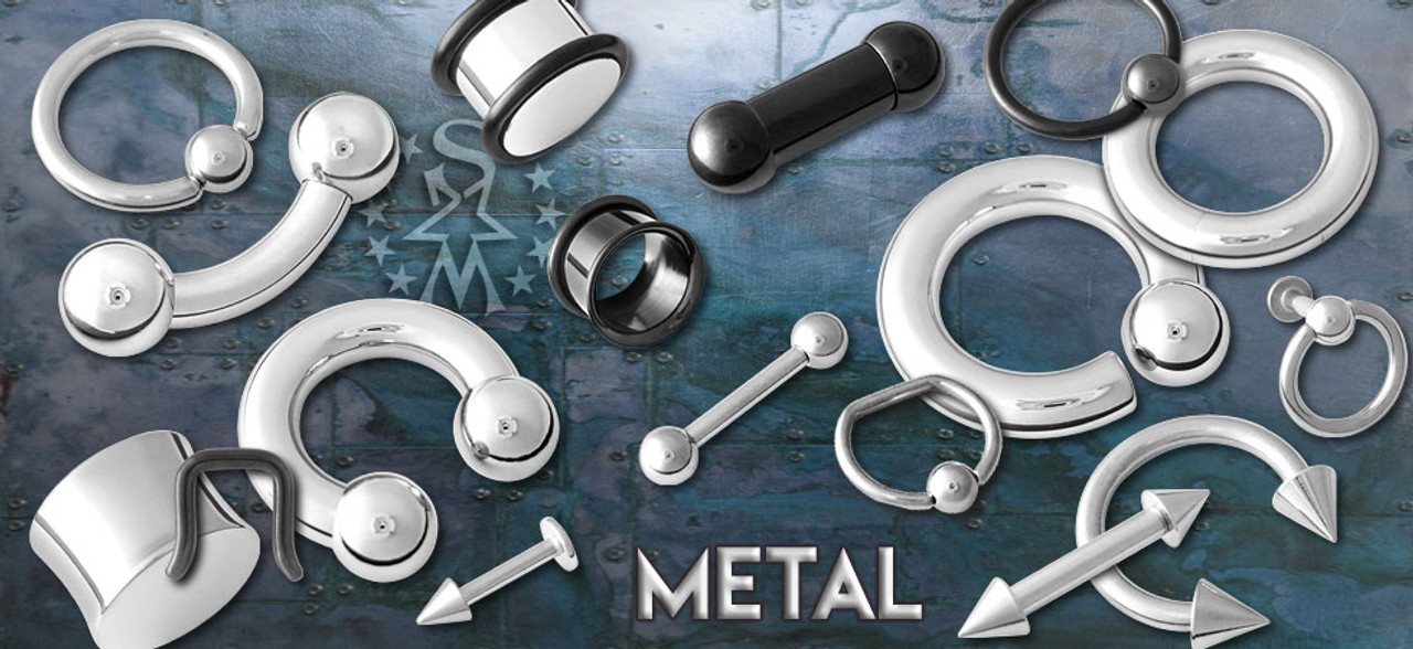 Metal Barbells, Gauges, Tunnels, CBRs, Retainers
