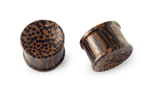 Pair Palm Wood Plugs