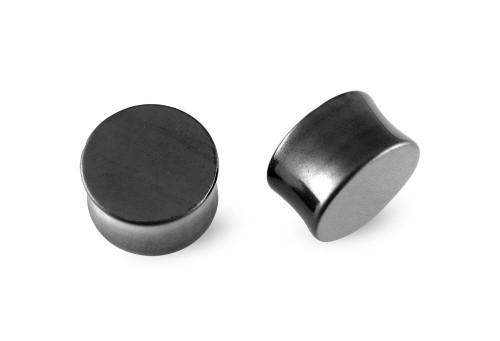 Pair Hematite Stone Plugs