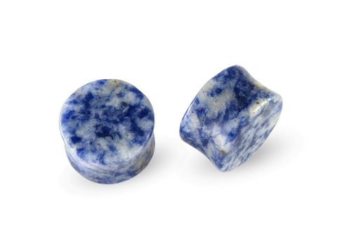 Pair Lapis Denim Stone Plugs