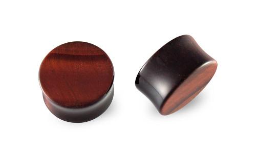 Pair Red Tiger Eye Stone Plugs